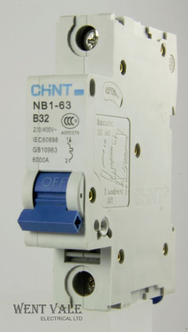 Chint NB1-63-B32 - 32a Type B Single Pole MCB Used